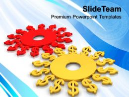 Micro Gear Powerpoint Templates Digital Illustration Of Dollar Finance Image Ppt Theme