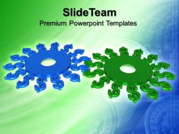 Micro Gear Powerpoint Templates Financial Cooperation Teamwork Chart Ppt Backgrounds