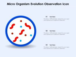 Micro Organism Evolution Observation Icon