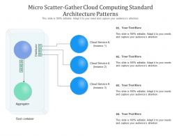 Micro Scatter Gather Cloud Computing Standard Architecture Patterns Ppt Presentation Diagram