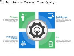 Micro Services Covering It And Quality Infrastructure