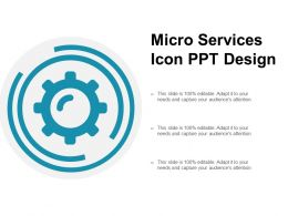 Micro Services Icon Ppt Design