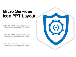 Micro Services Icon Ppt Layout