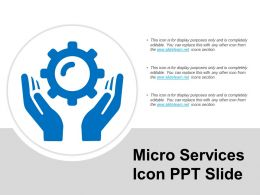Micro Services Icon Ppt Slide