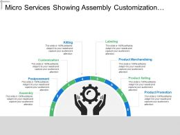 Micro Services Showing Assembly Customization And Product Promotion