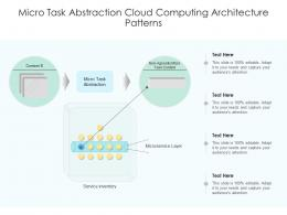 Micro Task Abstraction Cloud Computing Architecture Patterns Ppt Powerpoint Slide