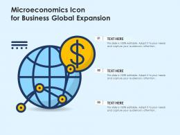 Microeconomics Icon For Business Global Expansion