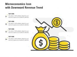 Microeconomics Icon With Downward Revenue Trend