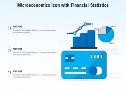 Microeconomics Icon With Financial Statistics