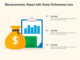 Microeconomics Report With Yearly Performance Icon