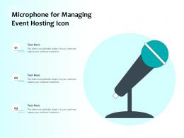 Microphone For Managing Event Hosting Icon