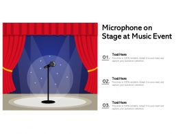 Microphone On Stage At Music Event