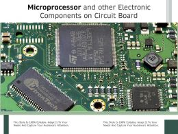 Microprocessor And Other Electronic Components On Circuit Board