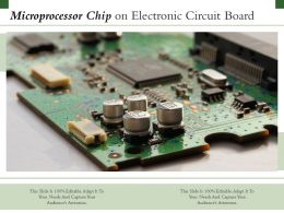 Microprocessor Chip On Electronic Circuit Board
