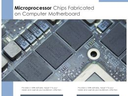 Microprocessor Chips Fabricated On Computer Motherboard