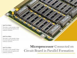 Microprocessor Connected On Circuit Board In Parallel Formation