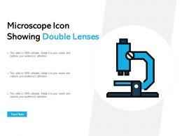 Microscope Icon Showing Double Lenses