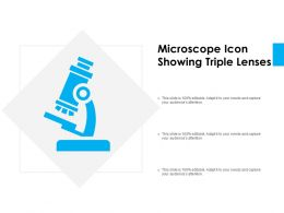 Microscope Icon Showing Triple Lenses