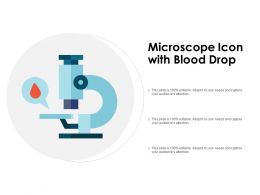 Microscope Icon With Blood Drop