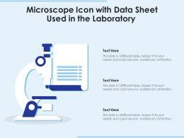 Microscope Icon With Data Sheet Used In The Laboratory
