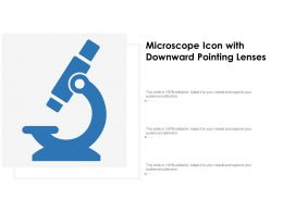 Microscope Icon With Downward Pointing Lenses
