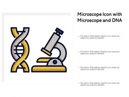 Microscope Icon With Microscope And DNA