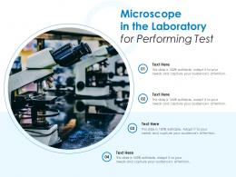 Microscope In The Laboratory For Performing Test