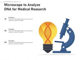 Microscope To Analyze DNA For Medical Research