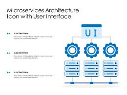 Microservices Architecture Icon With User Interface