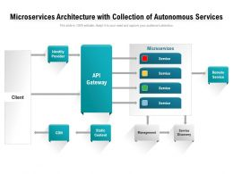 Microservices Architecture With Collection Of Autonomous Services