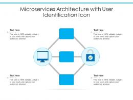 Microservices Architecture With User Identification Icon