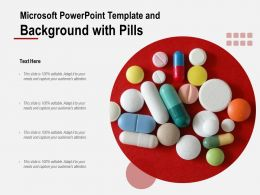 Microsoft Powerpoint Template And Background With Pills