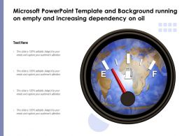 Microsoft Powerpoint Template Running On Empty And Increasing Dependency On Oil