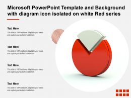 Microsoft Powerpoint Template With Diagram Icon Isolated On White Red Series