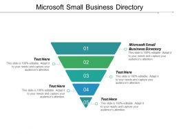 Microsoft Small Business Directory Ppt Powerpoint Presentation Gallery Format Ideas Cpb