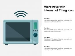 Microwave With Internet Of Thing Icon