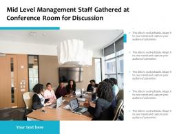 Mid Level Management Staff Gathered At Conference Room For Discussion