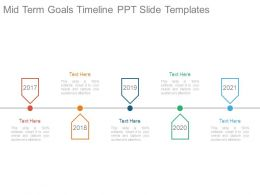 Mid Term Goals Timeline Ppt Slide Templates