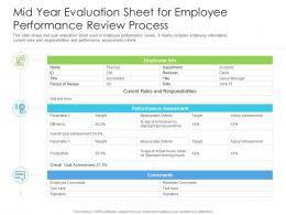Mid Year Evaluation Sheet For Employee Performance Review Process