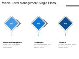 Middle Level Management Single Plans Relatively Specific