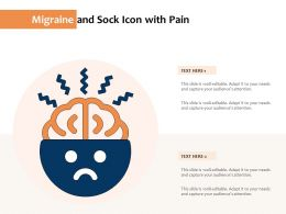 Migraine And Sock Icon With Pain