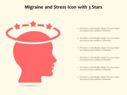 Migraine And Stress Icon With 3 Stars
