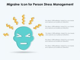 Migraine Icon For Person Stress Management