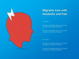 Migraine Icon With Headache And Pain