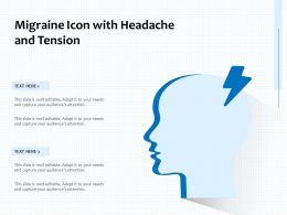 Migraine Icon With Headache And Tension