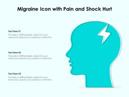 Migraine Icon With Pain And Shock Hurt