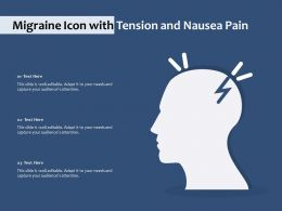 Migraine Icon With Tension And Nausea Pain