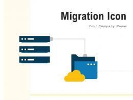 Migration Icon Storage Synchronization Management Arrows Indicating
