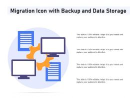 Migration Icon With Backup And Data Storage