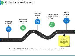 Milestone Achieved Ppt Summary Graphics
